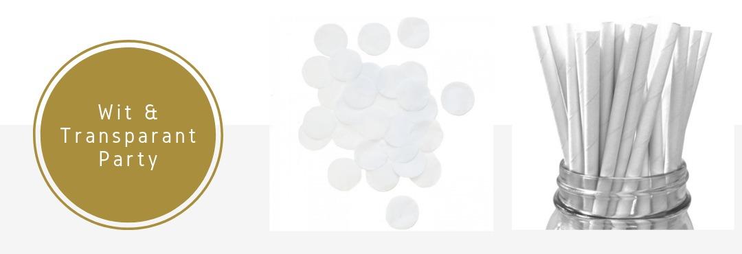 Wit Transparant Kleur Feestartikelen Versieringen Decoraties Kopen Verjaardag Bruiloft Babyshower