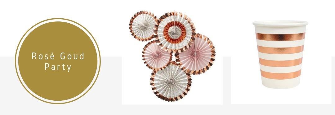 Rose Goud Koper Kleur Feestartikelen Decoraties Versieringen Kopen Verjaardag Bruiloft