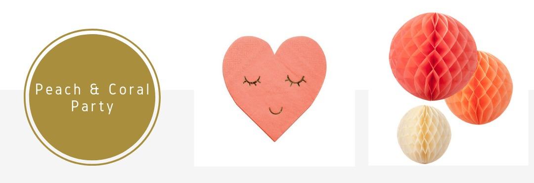 Peach Coral Kleur Feestversieringen Feestartikelen Decoraties Verjaardag Kinderfeest Bruiloft kopen