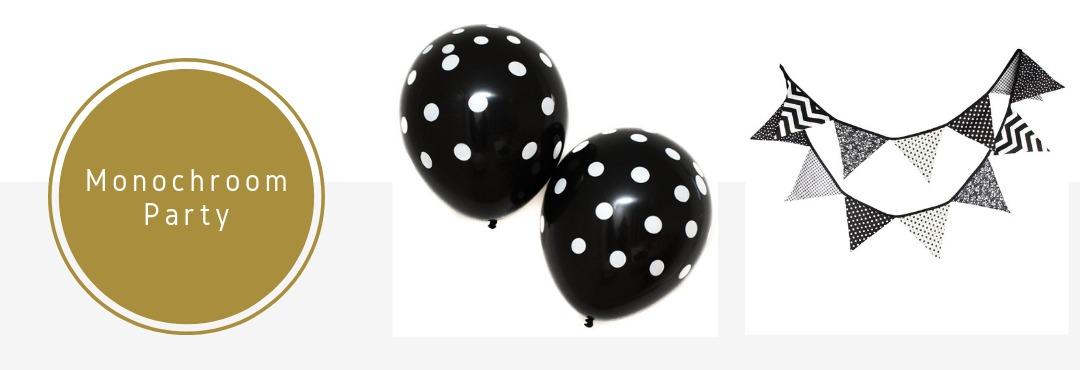 Monochrome Black White Party Feestartikelen Versieringen Verjaardag Babyshower Bruiloft Kopen
