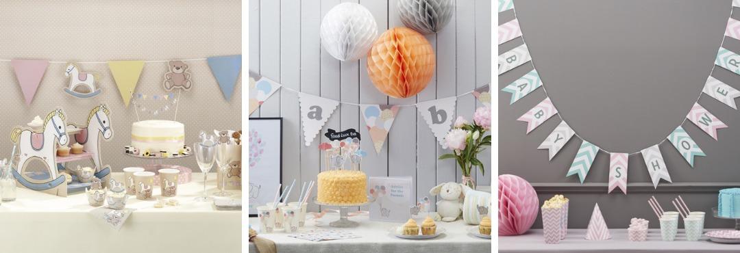 Ginger Ray Babyshower decoraties feestartikelen feestversieringen kopen bij PretaPret altijd hip
