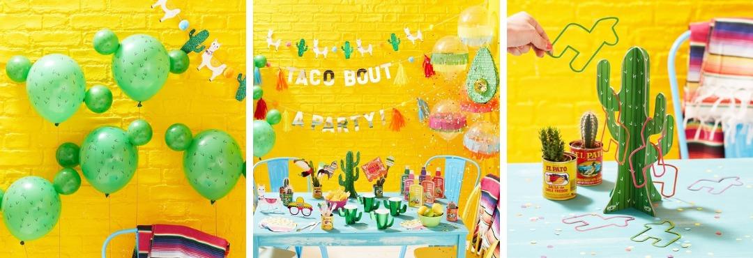 Viva la Fiesta Cactus Mexicaans Kinderfeestje feestartikelen en feestversieringen kopen hip & trendy