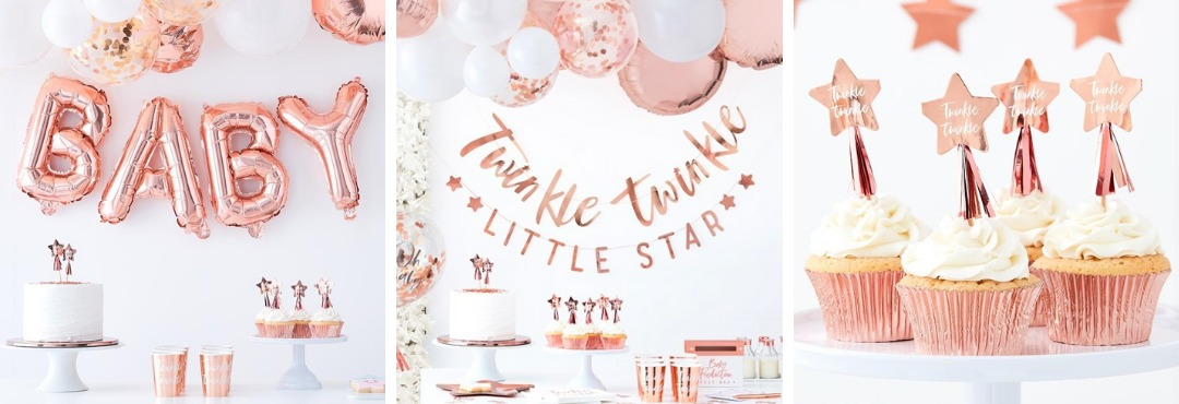 Twinkle Twinkle Babyshower feestartikelen merk Ginger Ray kopen bij PretaPret altijd hip en trendy