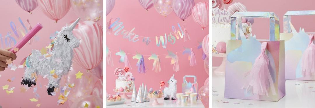 Make a Wish Unicorn Kinderfeestje versieringen feestartikelen kopen bij PretaPret hip en trendy