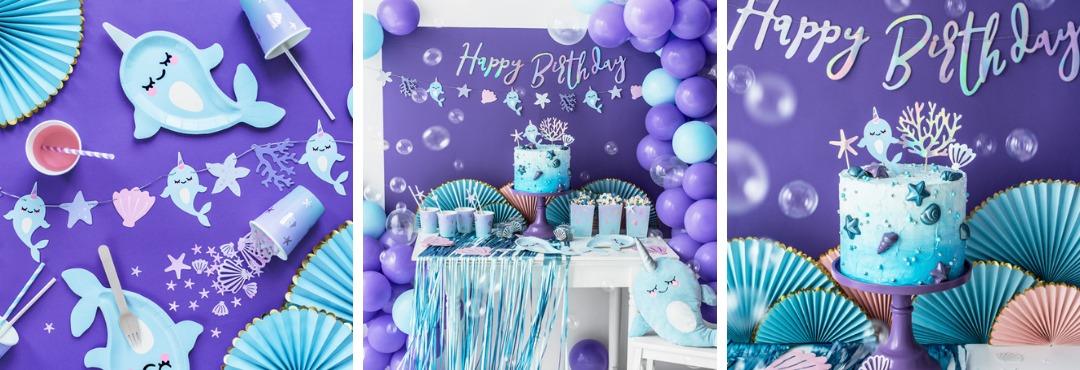 Narhwal Zeemeermin Dolfijnen collectie feestartikelen en decoraties voor een hip thema Kinderfeestje
