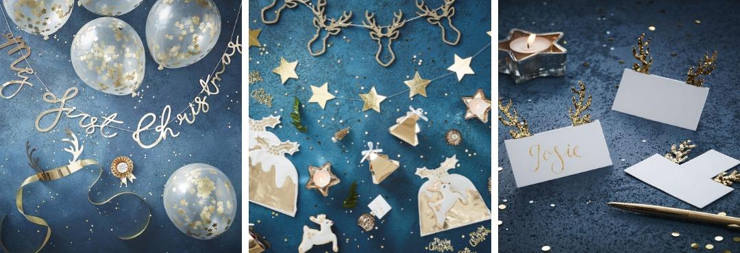 Gold Christmas Kerstversiering en Kerst decoratie van Ginger Ray je vindt het hier bij PretaPret