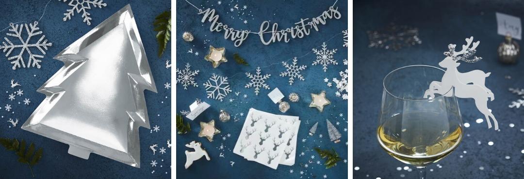 Silver Christmas Kerstversiering en Kerst decoratie van Ginger Ray je vindt het hier bij PretaPret