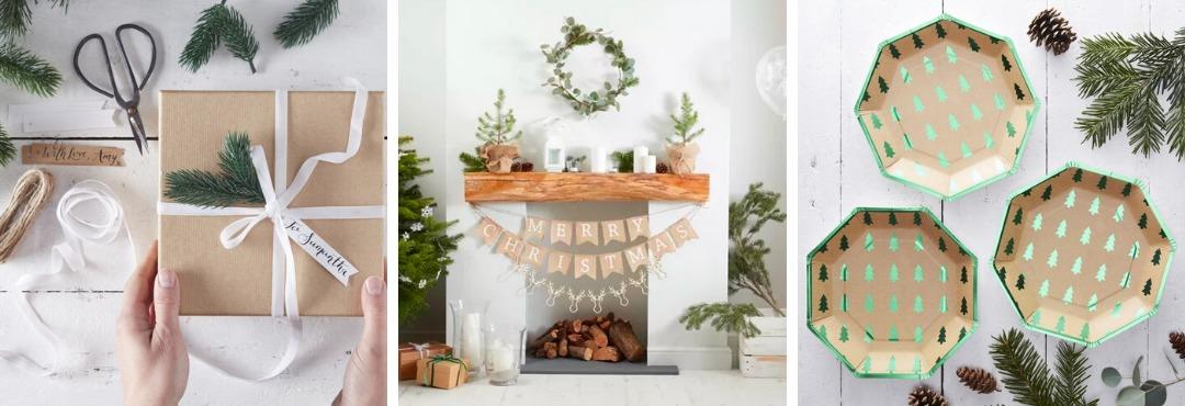 Rustic Christmas Kerstversiering en Kerst decoratie van Ginger Ray je vindt het hier bij PretaPret