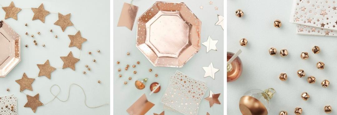 Rose Gold Metallic Kerstversiering en Kerst decoratie van Ginger Ray je vindt het hier bij PretaPret