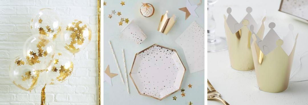 Gold Metallic Star Kerstversiering en Kerst decoratie van Ginger Ray je vindt het hier bij PretaPret
