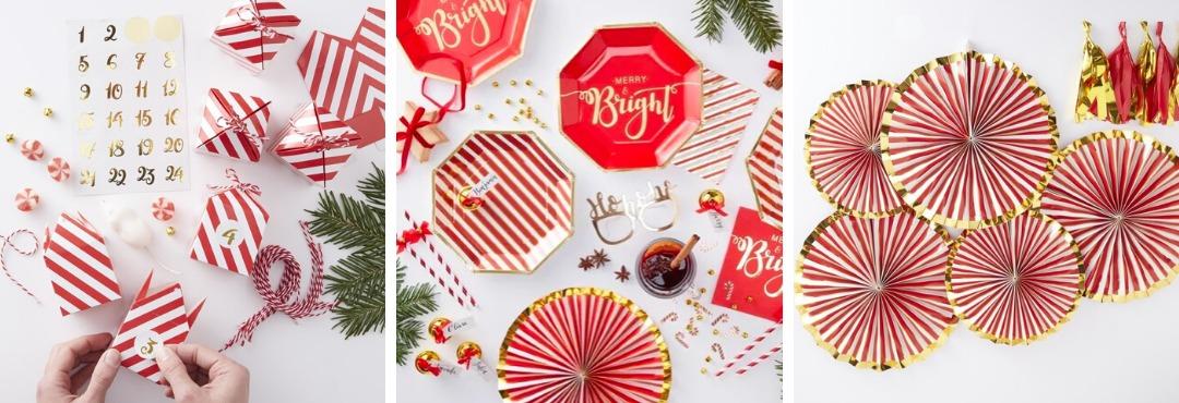 Red & Gold Kerstversiering en Kerst decoratie van Ginger Ray je vindt het hier bij PretaPret