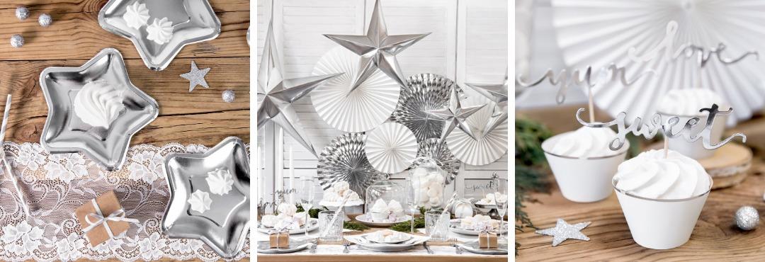 Silver Stars Kerstversiering en Kerst decoratie van Ginger Ray je vindt het hier bij PretaPret