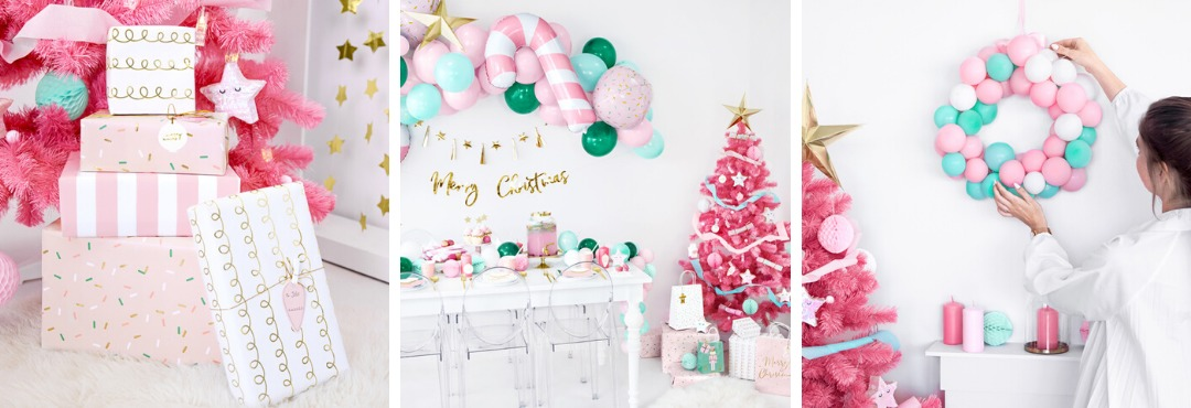 Pink Christmas Kerstversiering en Kerst decoratie van Partydeco je vindt het hier bij PretaPret