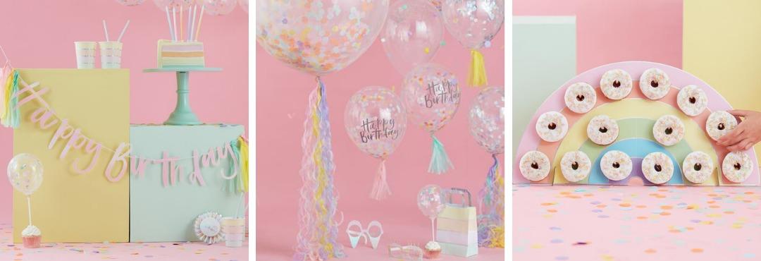 Pastel Birthday Party feestartikelen Verjaardag Ginger Ray kopen bij PretaPret altijd hip trendy