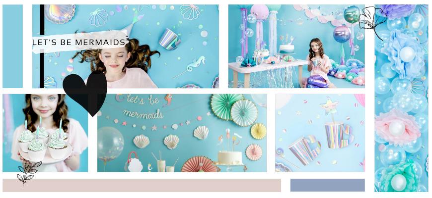 Mermaid Zeemeerminnen feestartikelen en decoraties voor een hip thema Kinderfeestje