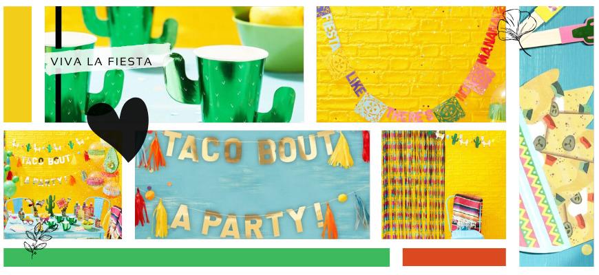 Viva la Fiesta Cactus Mexicaans Kinderfeestje feestartikelen en feestversiering kopen hip & trendy