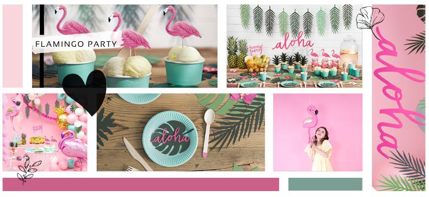 Aloha Flamingo Kinderfeestje Feestartikelen en Feestversiering kopen bij PretaPret hip en trendy