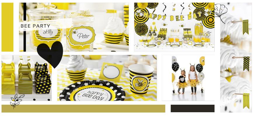 Bee Bijen Geel Zwart Kinderfeestje Feestartikelen Feestversiering kopen bij PretaPret hip trendy
