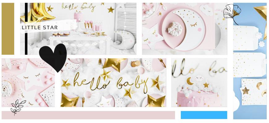 Little Star Babyshower versiering het merk Partydeco kopen bij PretaPret altijd hip en trendy