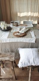 Linnen tafelkleed 145x250cm naturel beige