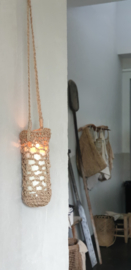 Flessentasje van touw