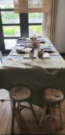 Linnen tafelkleed 145x250cm avocado