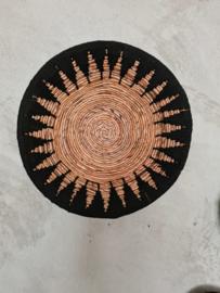Schaal ster zwart 50 cm