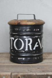 Trommel STORAGEBOX met houten deksel  16 x 22 / 20 x 25 cm