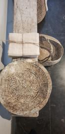 Houten bord / curving palmschaal dirty 30cm
