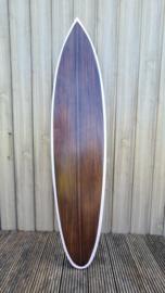 Surfboard bruin met rand