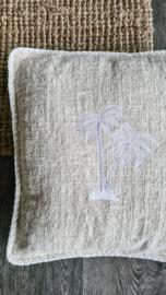 Linnen kussen palmboom