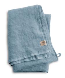 Linnen badhanddoek 90x150cm dusty blue