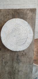 Bohemian schild wanddecoratie 40cm. Antique white