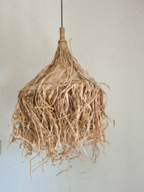 Toeterlamp raffia shaggy