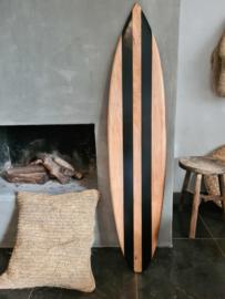 Surfboard zwarte strepen