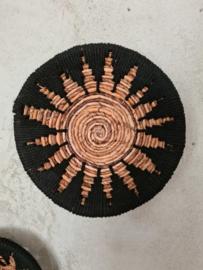 Schaal ster zwart 30 cm