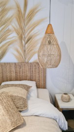 Rotan lamp met hout kleur 2
