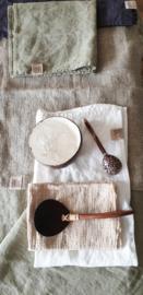 Wrinkled linnen doekjes 42x56cm beige