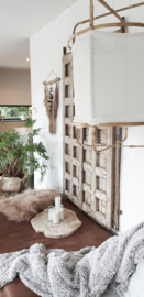 Bamboe framelamp, wit