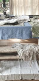 Linnen tafelkleed 145x250cm dusty blue