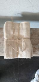 Linnen doekjes 45x60cm beige