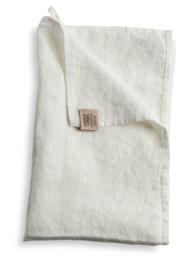 Linnen hand/theedoek 45x70cm off white