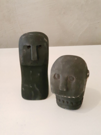 Stone man head black