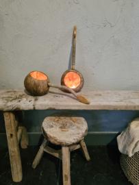 Kokosnoot lepel sfeer