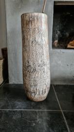 Bohemian vaas 71cm antique white
