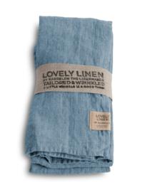 Linnen gastendoekje / servet 45x45cm dusty blue