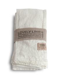 Linnen gastendoekje / servet 45x45cm off white