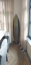 Surfboard blauwe streep