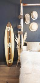 Surfboard bloemen