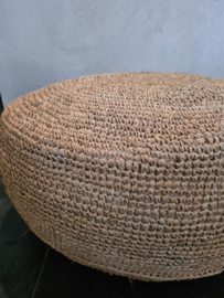 Poef sisal natural rond